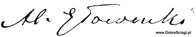 Bolesław Prus - autograf