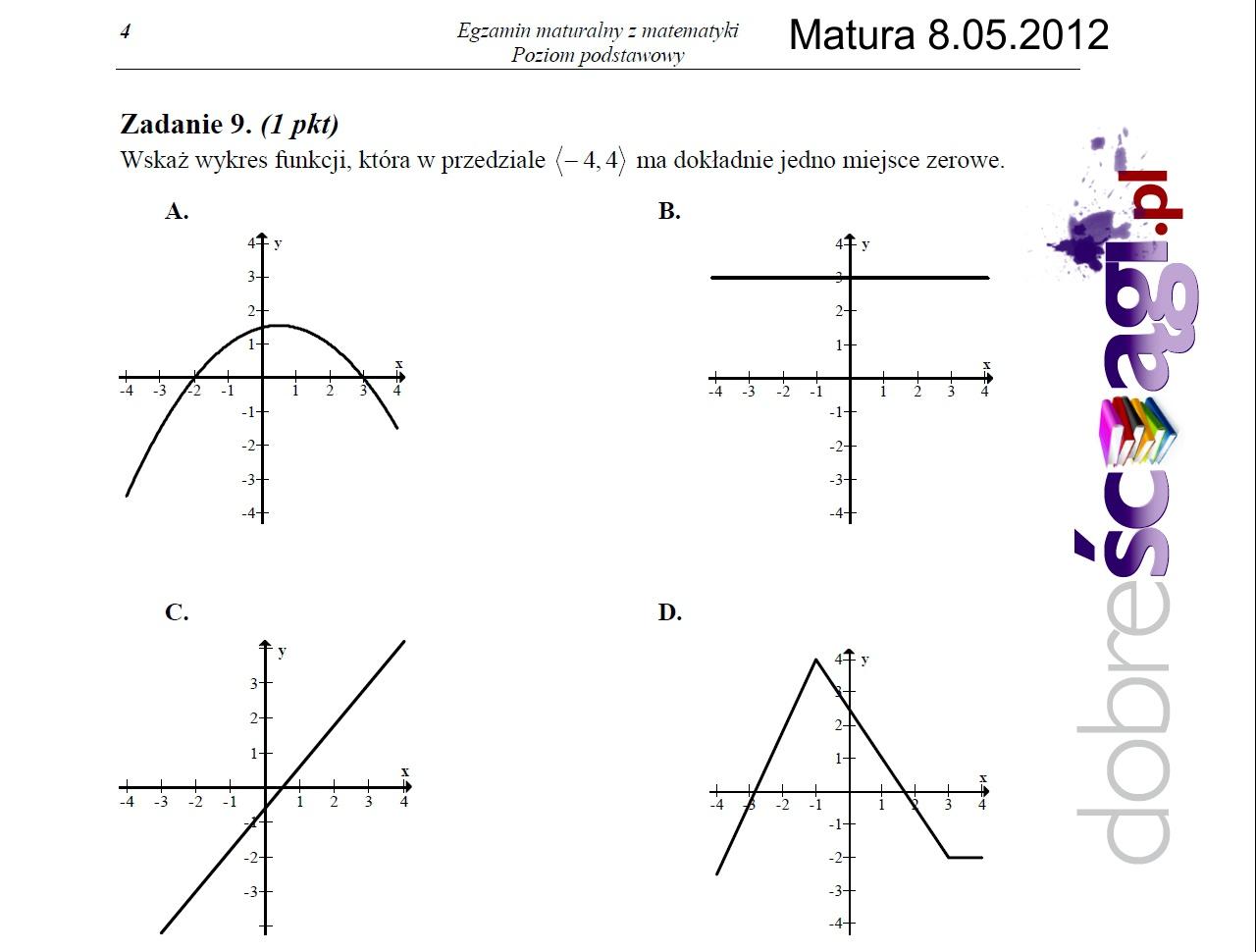 Matura 2012 z matematyki dla idiotów?