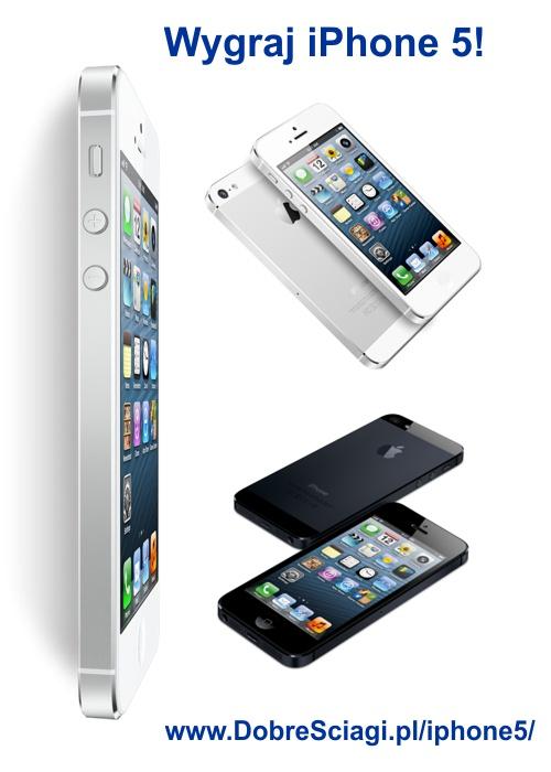 Wygraj iPhone'a 5 w konkursie sms serwisu DobreSciagi.pl